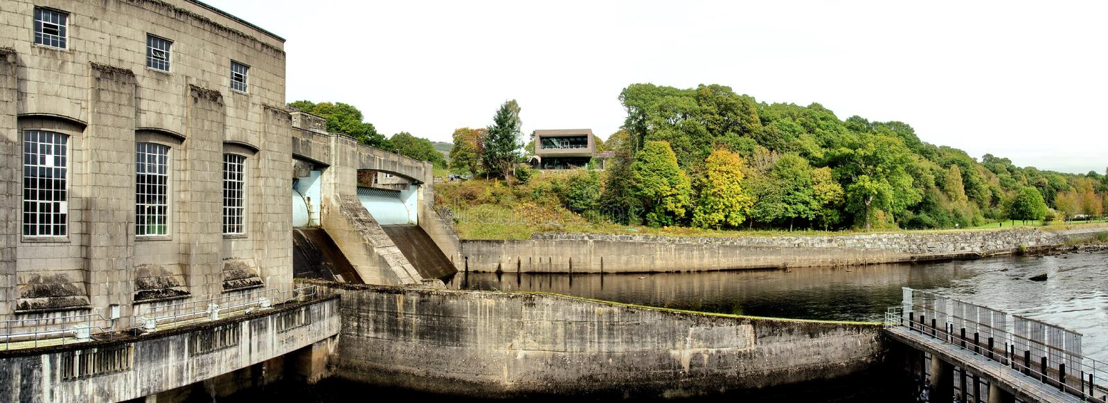 Hydro Electric Dam and Fish Ladder at Pitlochry royalty free stock images