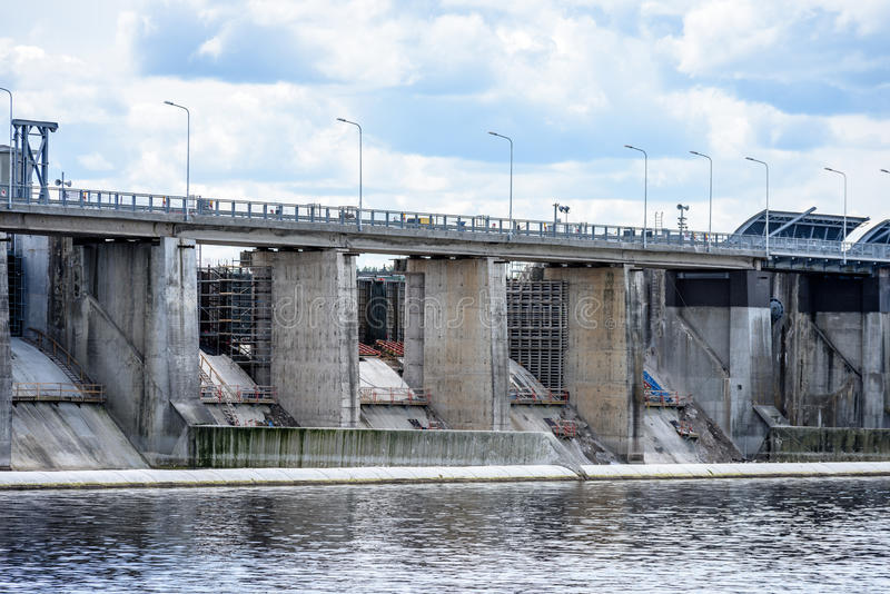 hydro electric power station gates for water stock images