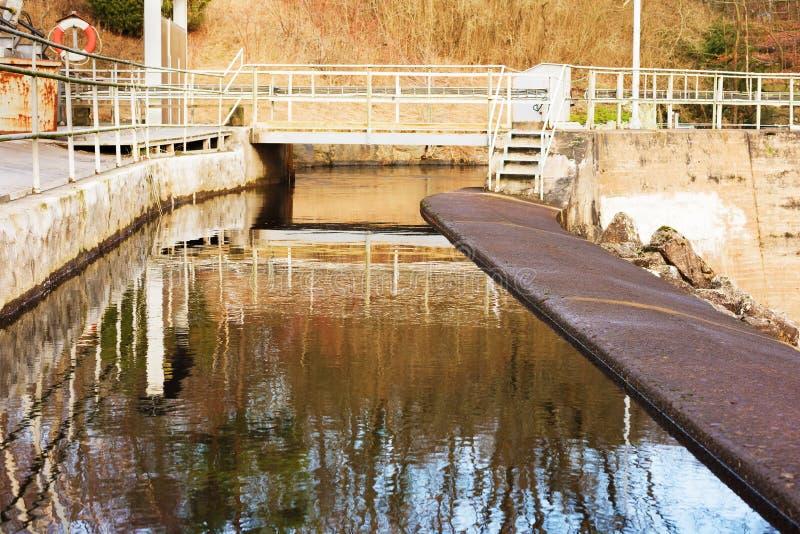 Hydro-elektrische Dam stock afbeelding