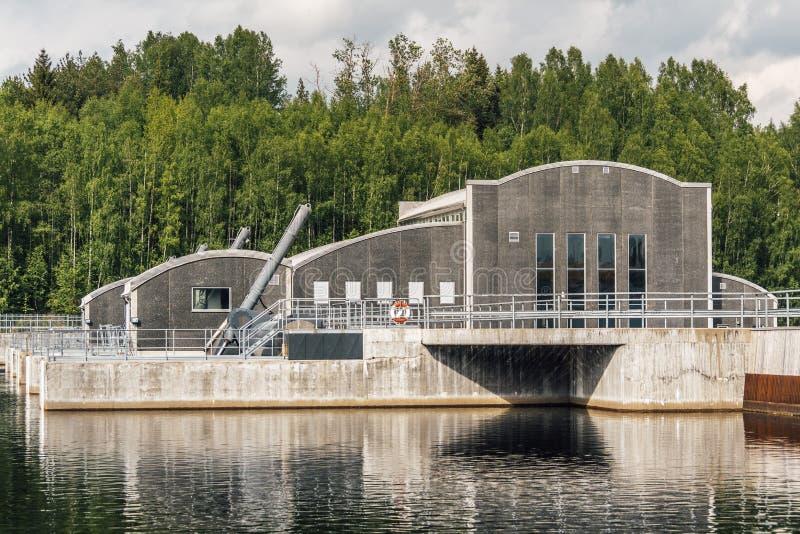 Hydro elektrische elektrische centrale royalty-vrije stock foto