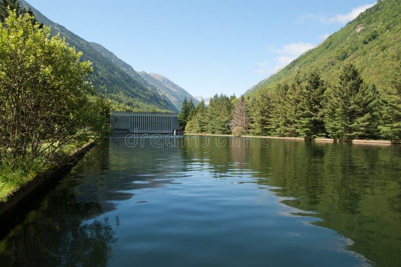 Hydro elektrische installatie stock afbeelding