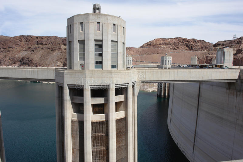 Hydro-elektrische toren stock foto's