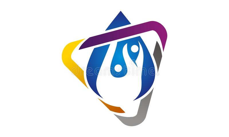 Hydro Healthy Logo Design Template royalty free illustration
