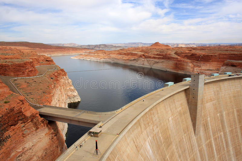 Hydro power electric dam. royalty free stock images