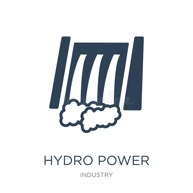 hydro power generation icon in trendy design style. hydro power generation icon isolated on white background. hydro power royalty free illustration