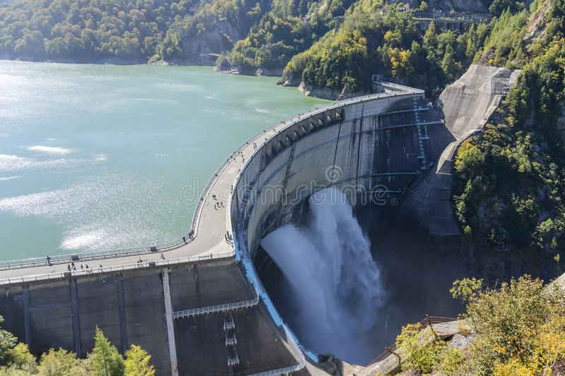 Panorama Of Water Electricity Plant And Dam Stock Image