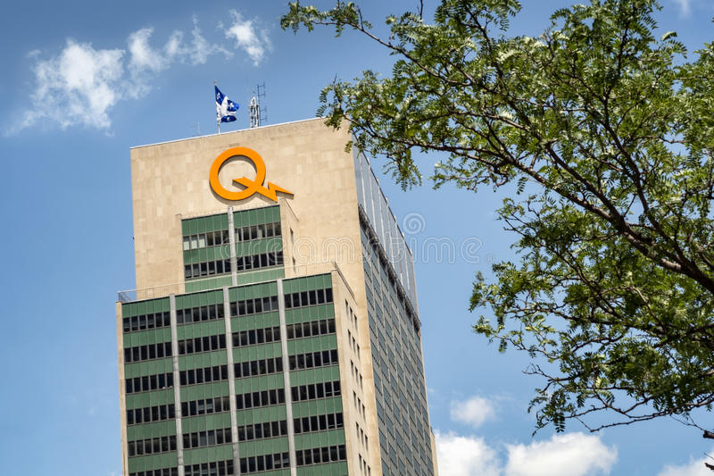 Hydro Quebec building royalty free stock photo