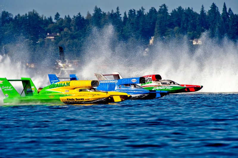 Hydro Race Starting Line Seafair stock images