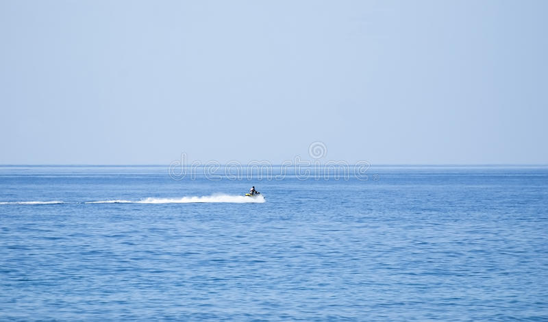 Hydrocycle. Prompt hydrocycle at the quiet warm sea stock photos