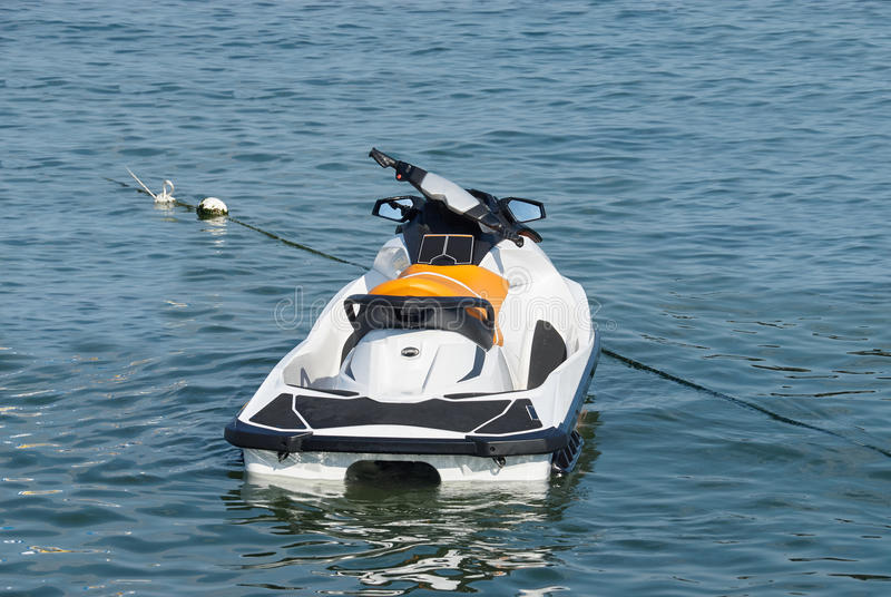 A hydrocycle on the Sea. A hydrocycle on the Black Sea in Odessa, Ukraine. Active recreation royalty free stock images
