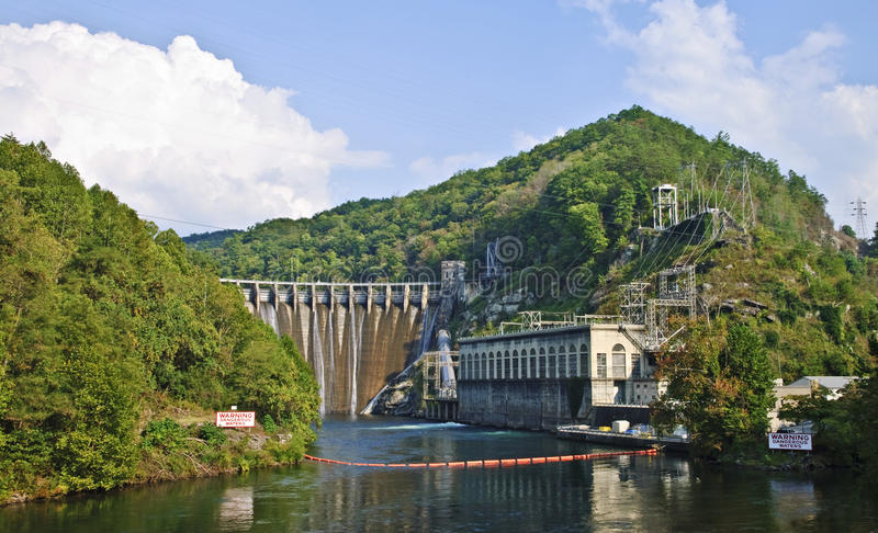 Hydroelectric Dam in the Mountains stock photo
