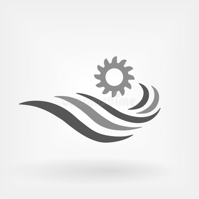Hydroelectric Power Generator icon. Hydroelectricity generation concept vector illustration royalty free illustration