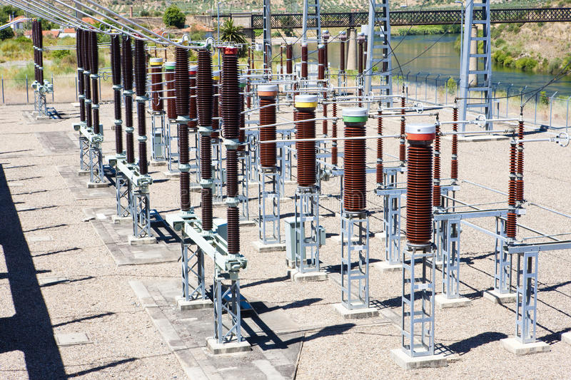 Hydroelectric power plant stock image