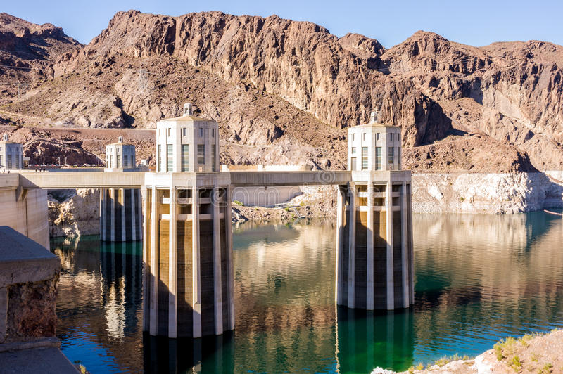 Hydroelectric power plant named Hoover Dam, Nevada royalty free stock photos
