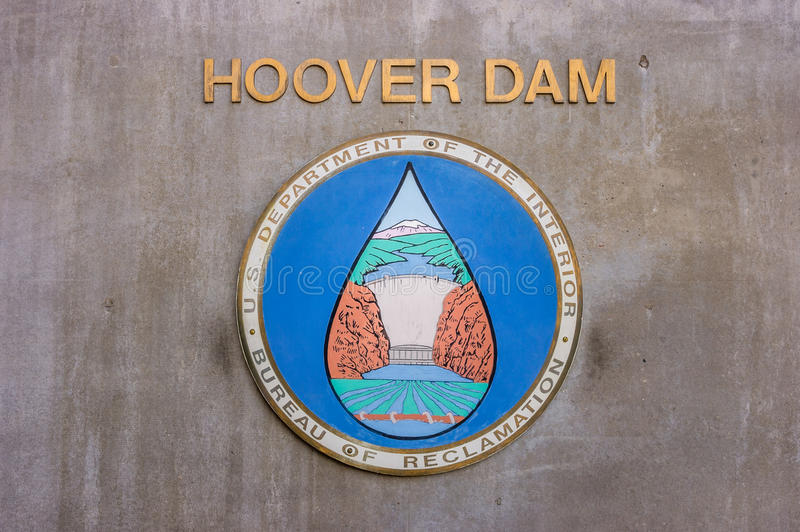 Hydroelectric power plant named Hoover Dam, Nevada royalty free stock photography