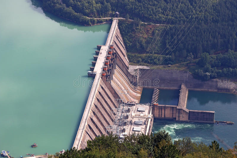 Hydroelectric power plant stock images