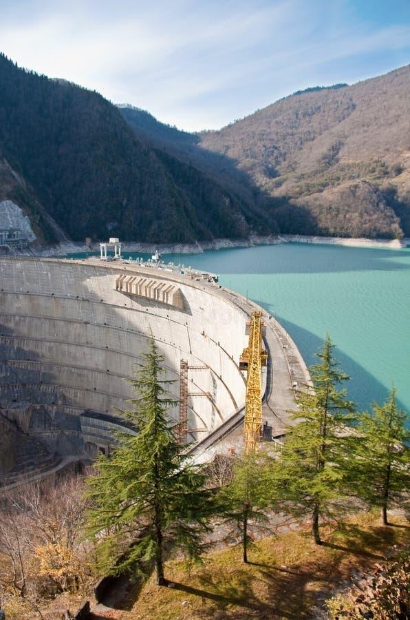 Hydroelektrische Verdammung lizenzfreie stockbilder