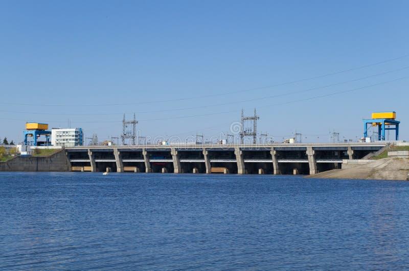 Hydroelektrische Verdammung stockfoto