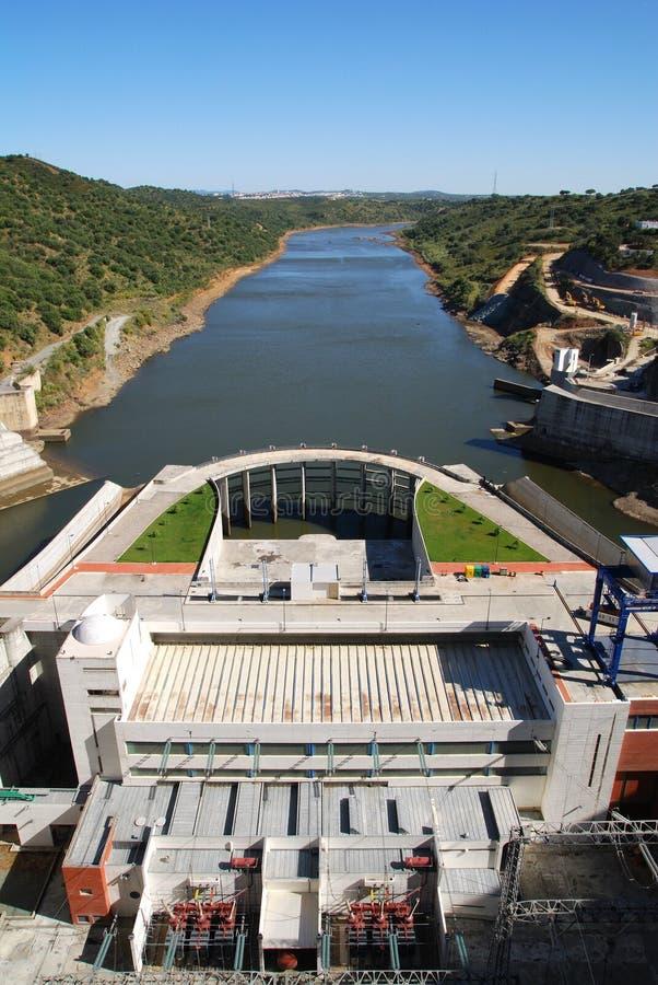 hydroelektrisk anläggning royaltyfria foton
