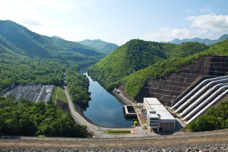 hydroelektrisk anläggningström royaltyfri foto