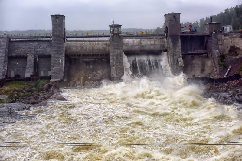 Download Hydroelektrisk Imatraströmstation Arkivfoto - Bild av fördämning, sten: 76701784