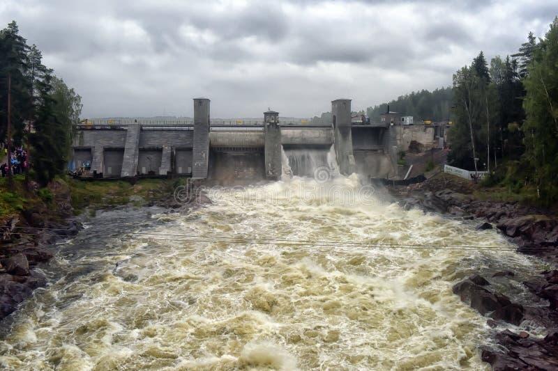 Download Hydroelektrisk Imatraströmstation Fotografering för Bildbyråer - Bild av utveckling, green: 76701865
