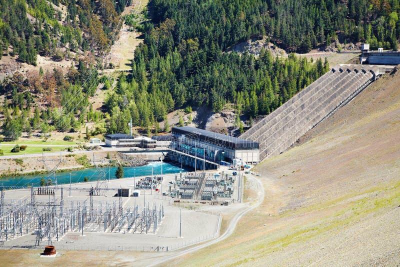 hydroelektrisk lake New Zealand för benmorefördämning arkivbilder