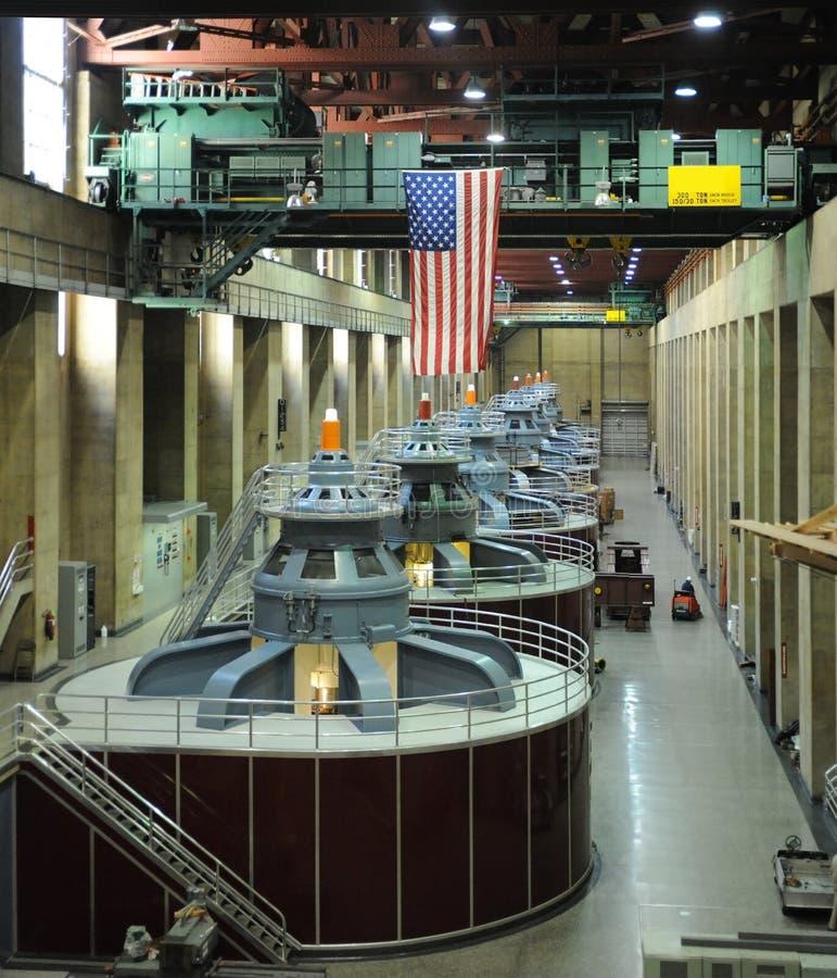 hydroelektriska turbiner arkivbilder