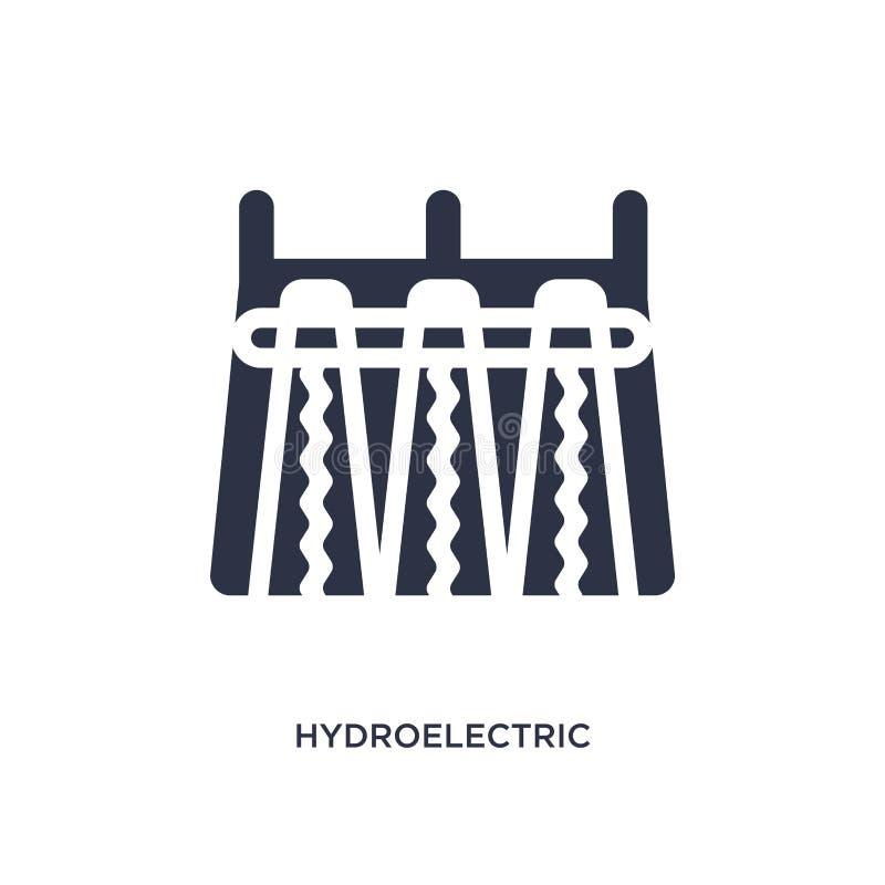 hydroelektryczna elektrowni ikona na białym tle Prosta element ilustracja od ekologii pojęcia ilustracja wektor