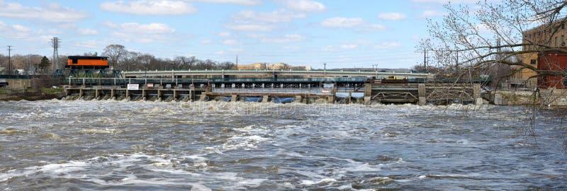 Hydroelektryczna władzy tama zdjęcie royalty free
