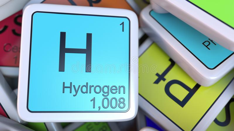Hydrogen block on the pile of periodic table of the chemical download hydrogen block on the pile of periodic table of the chemical elements blocks chemistry urtaz Choice Image