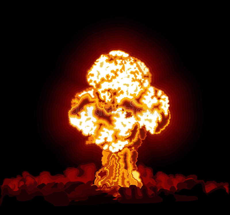 Hydrogen bomb exploded stock images