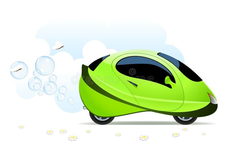 Hydrogen car concept stock illustration