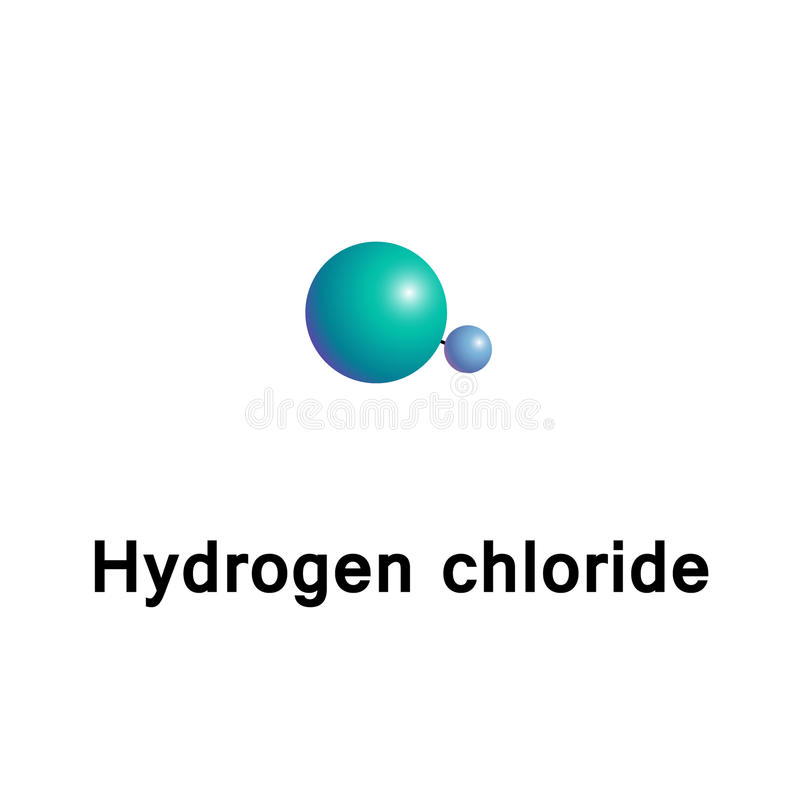 Free Hydrogen Chloride HCl Stock Photography - 92741812