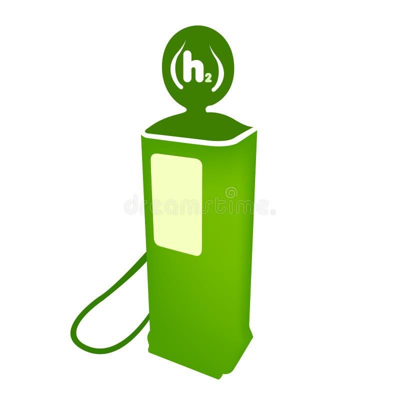 Hydrogen clean fuel pump vector royalty free stock photos