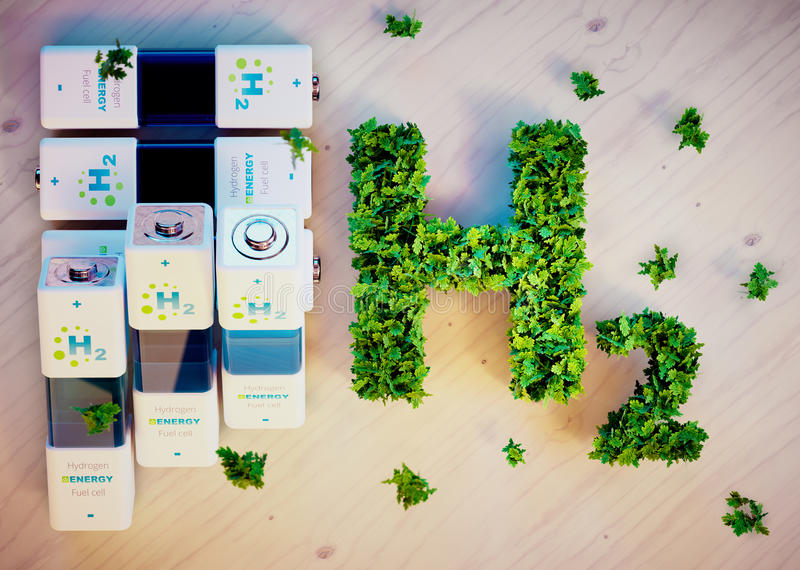 Hydrogen energy concept stock illustration