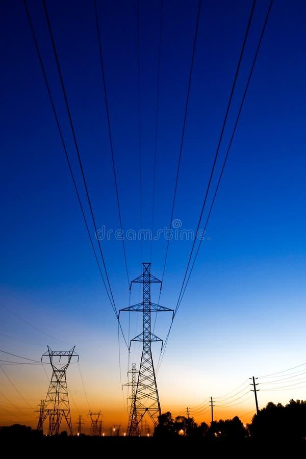 Hydrokontrolltürme lizenzfreies stockfoto