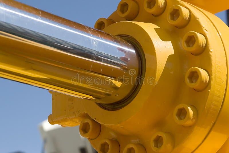 hydrolic pistong arkivfoton