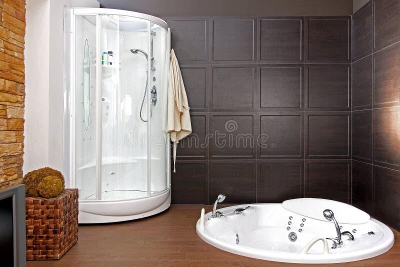 Hydromassage bathroom stock photos