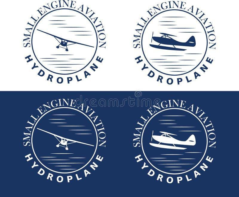 Hydroplane art blue stock illustration
