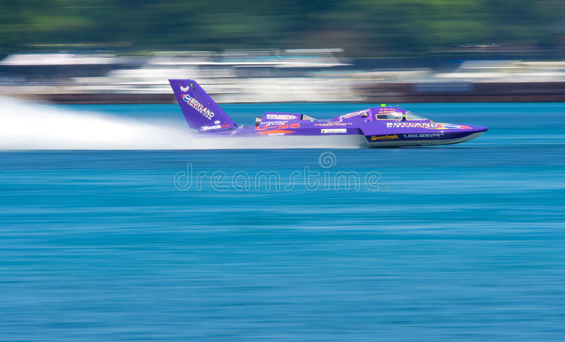 Hydroplane in Motion stock photo