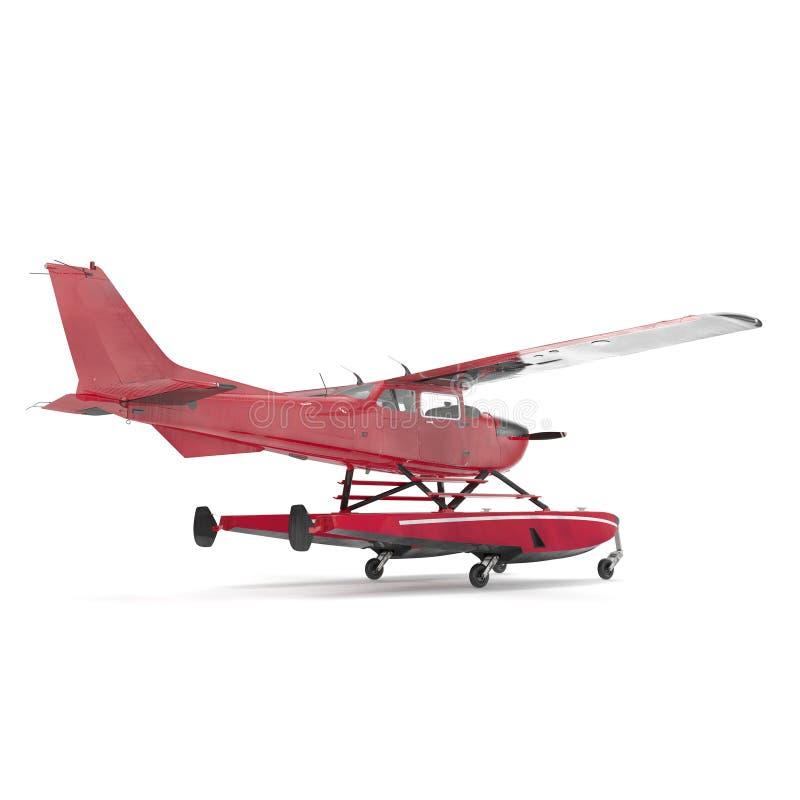 Hydroplane op wit 3D Illustratie vector illustratie