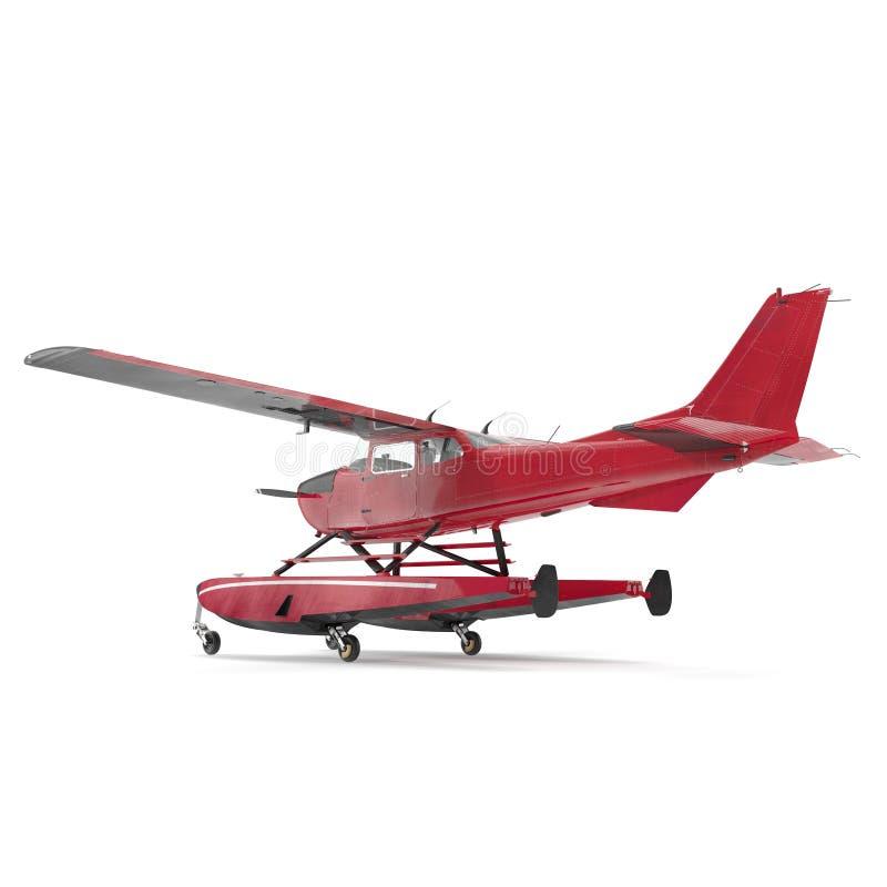 Hydroplane op wit 3D Illustratie royalty-vrije illustratie