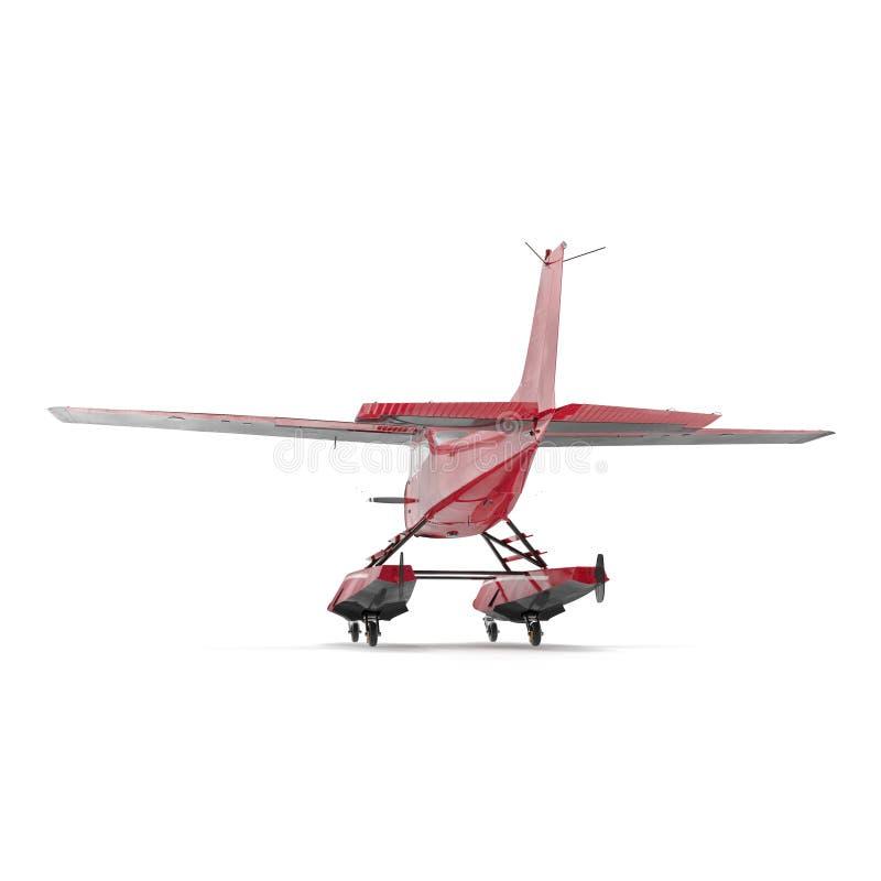 Hydroplane op wit 3D Illustratie stock illustratie