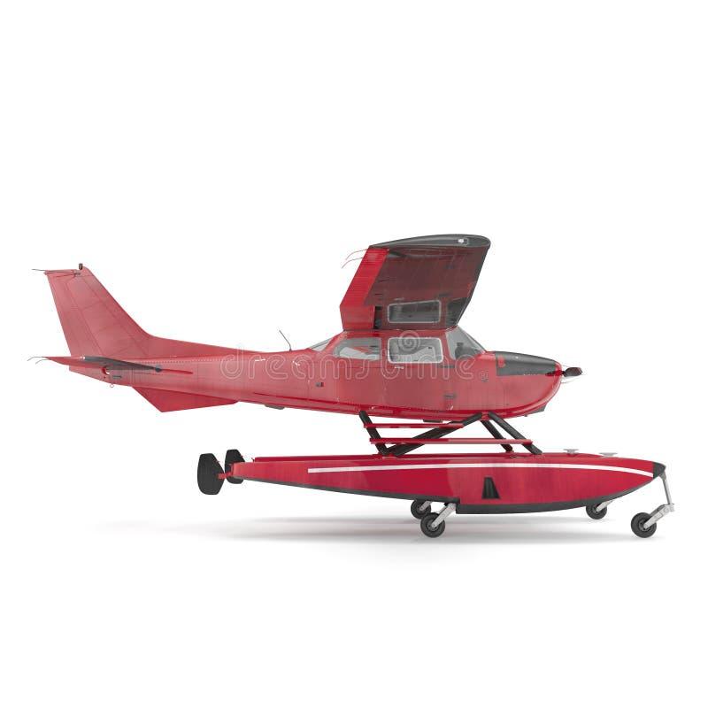 Hydroplane op wit Zachte nadruk 3D Illustratie vector illustratie