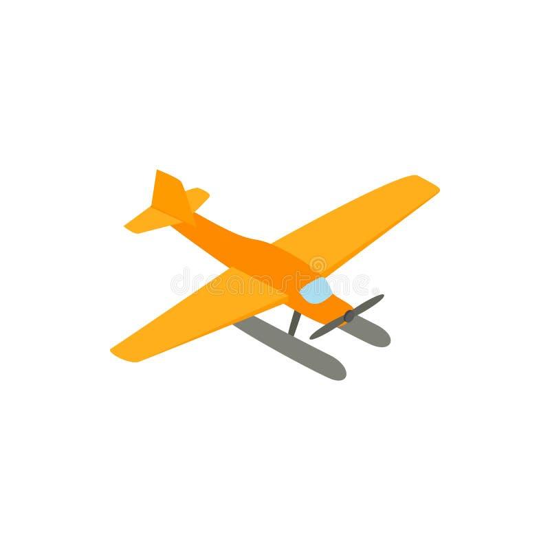 Hydroplane pictogram, isometrische 3d stijl royalty-vrije illustratie