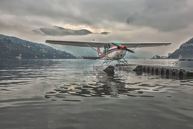 Hydroplane Seeberg Italien lizenzfreie stockbilder