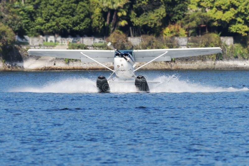 Hydroplane take off royalty free stock photo