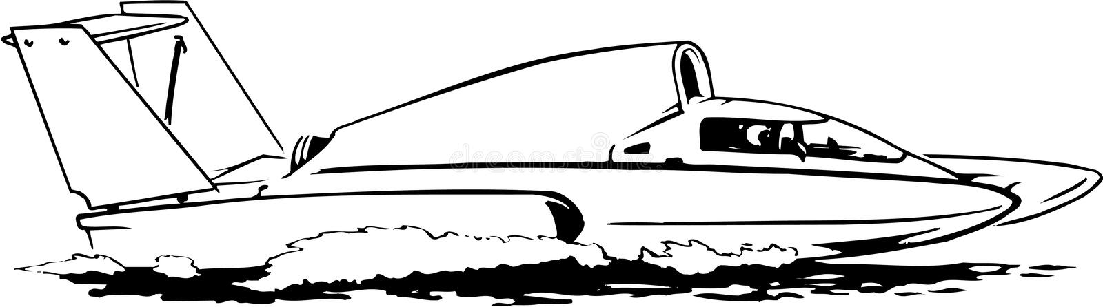 Hydroplane Vectorillustratie stock illustratie