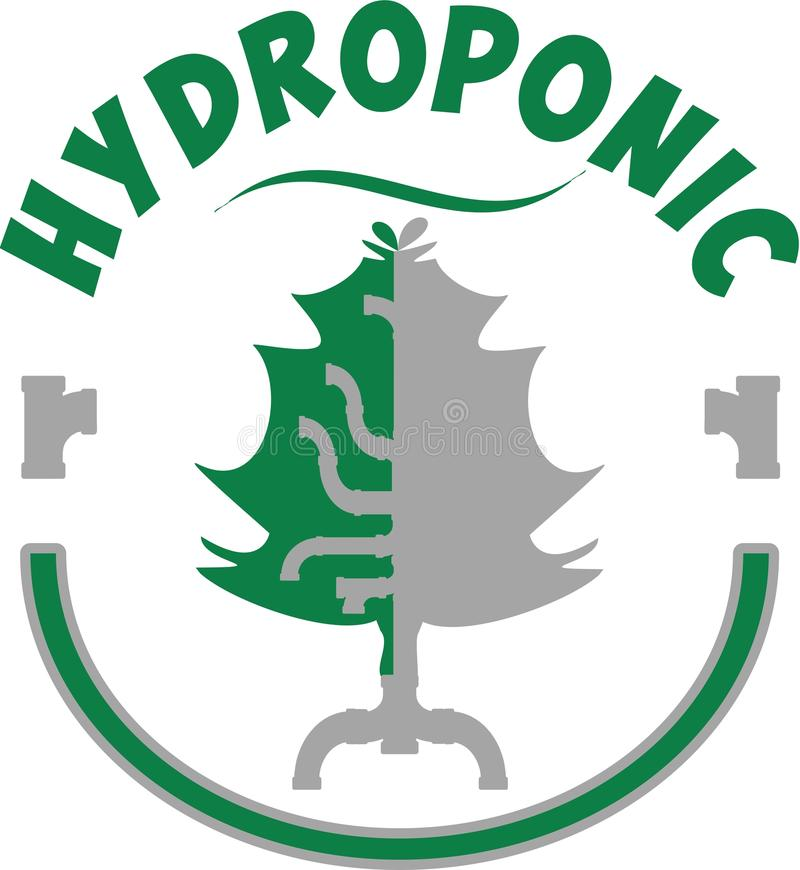 Hydroponic loga symbol obrazy royalty free